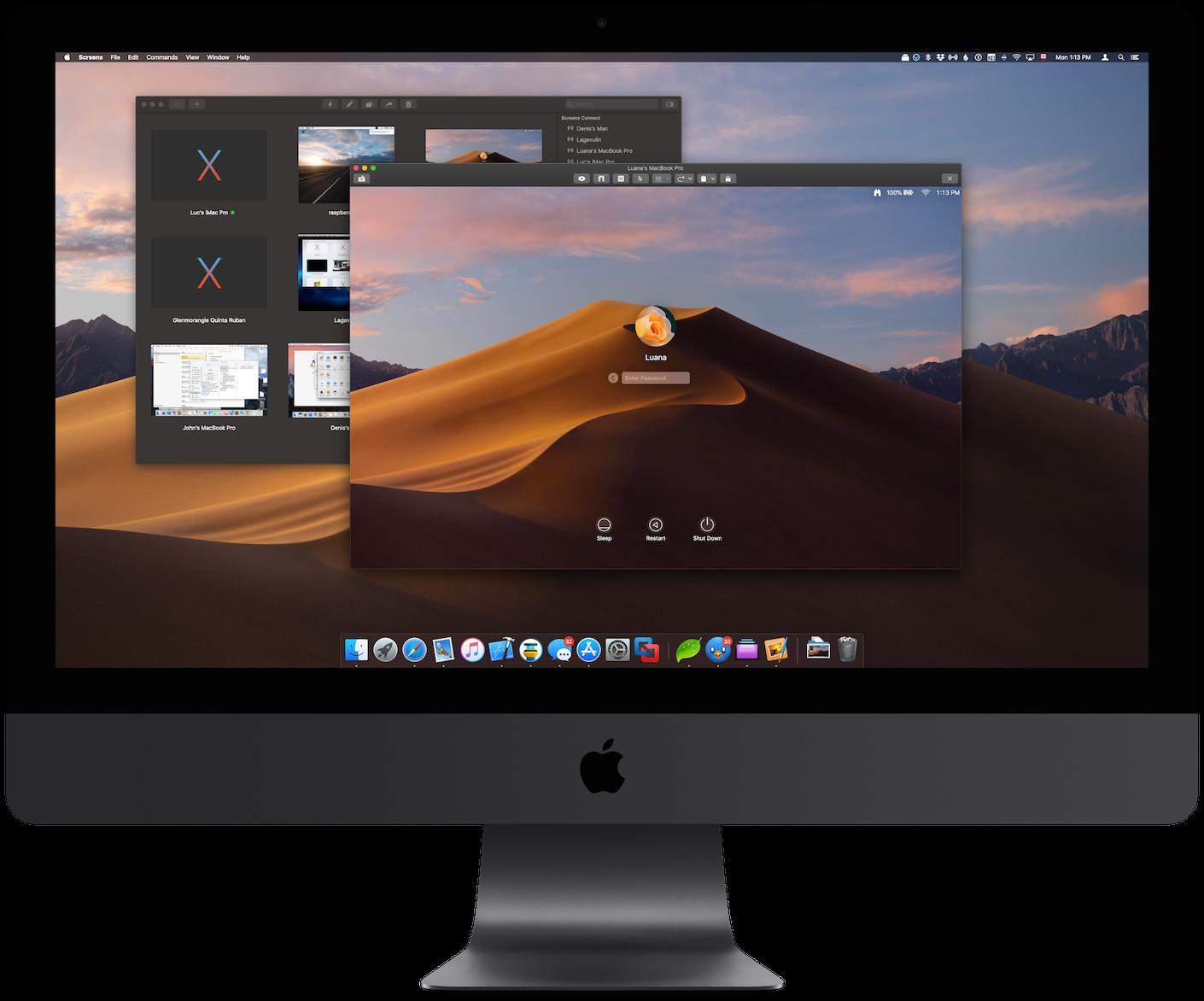 Screens pour macOS Contrôlez n'importe quel ordinateur à
